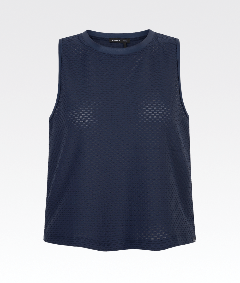 Muscle Tank in Midnight Blue