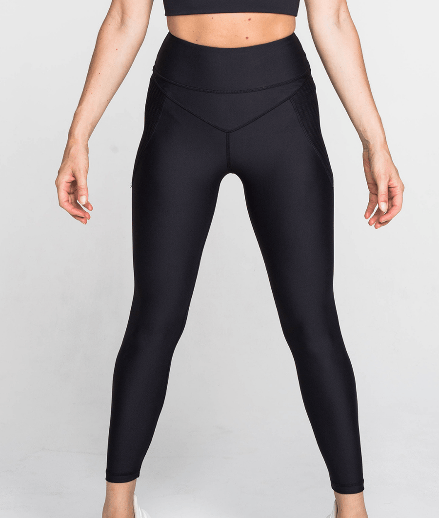 7/8 Viper Legging in Black Rib