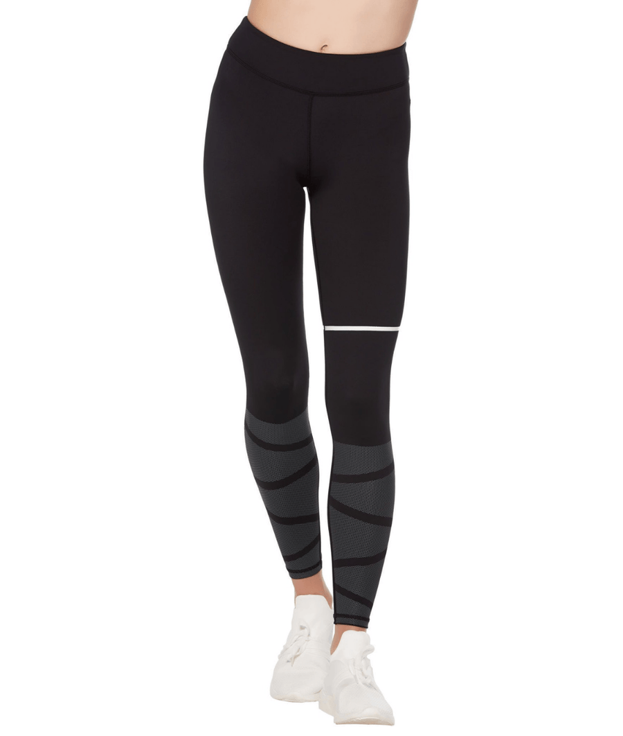 4e798c2fb4ee Women's high waisted, black gym leggings with subtle white dot detail.