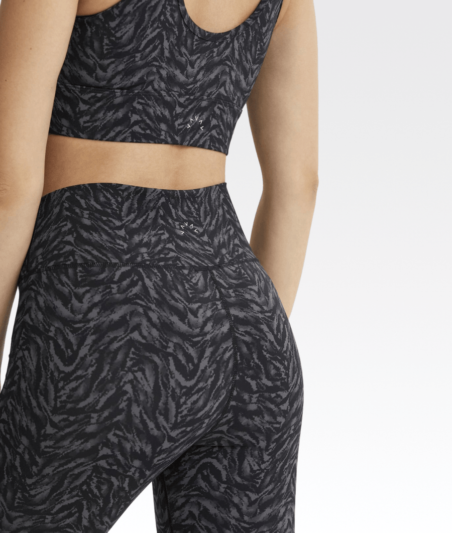 Luna Legging in Dark Mono Zebra