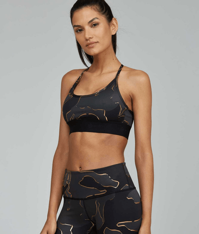 Studio Sports Bra in Guerra Gold