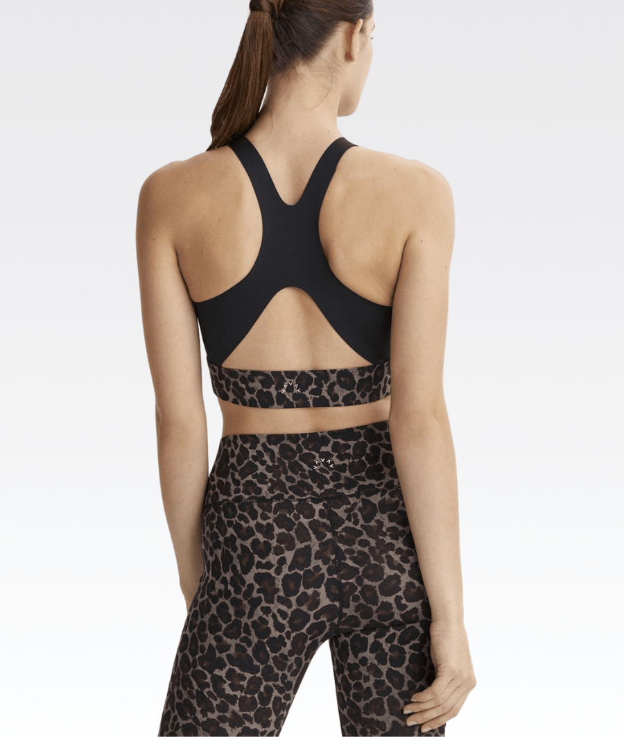 Sherman Sports Bra in Tort Leopard