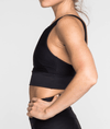 Riley Sports Bra in Black Rib