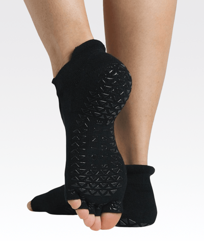 Clean Cut Toeless Grip Sock Black