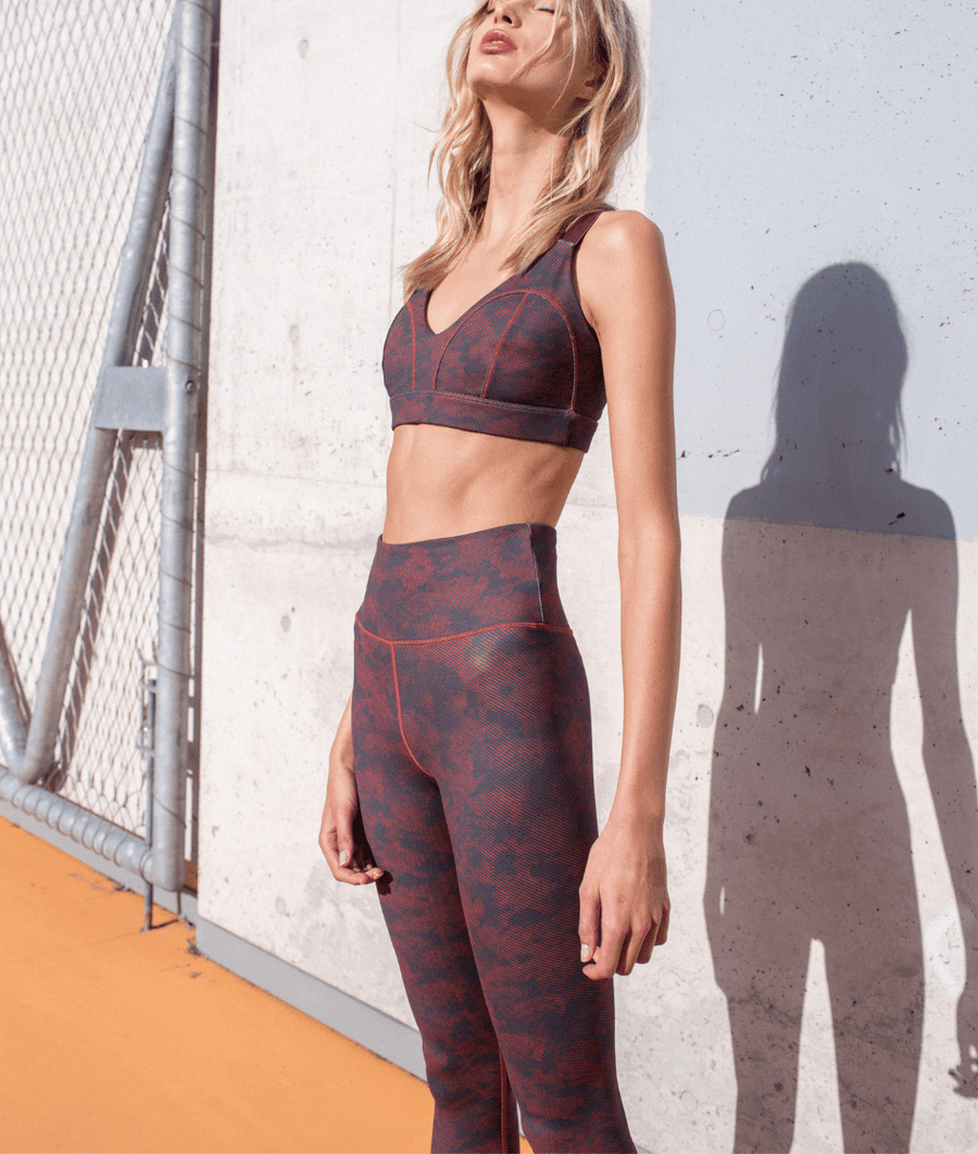 7/8 Illanois Legging in Stucco Wine