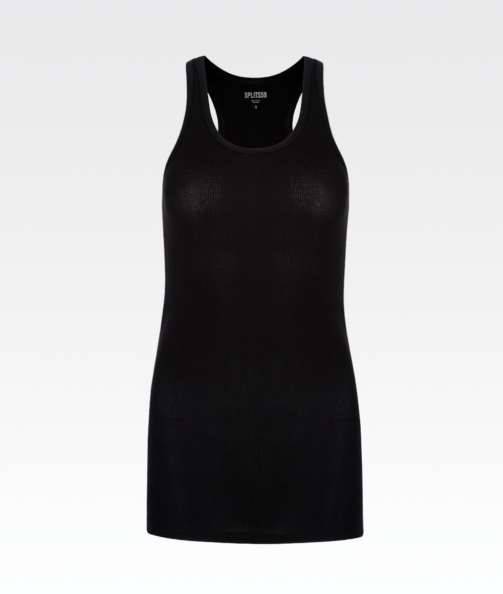Ashby Rib Tank Black