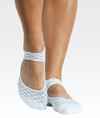 Linked Strap Grip Socks in White