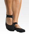 Linked Strap Grip Socks in Black