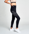 black high waisted gym activewear leggings by heroine sport