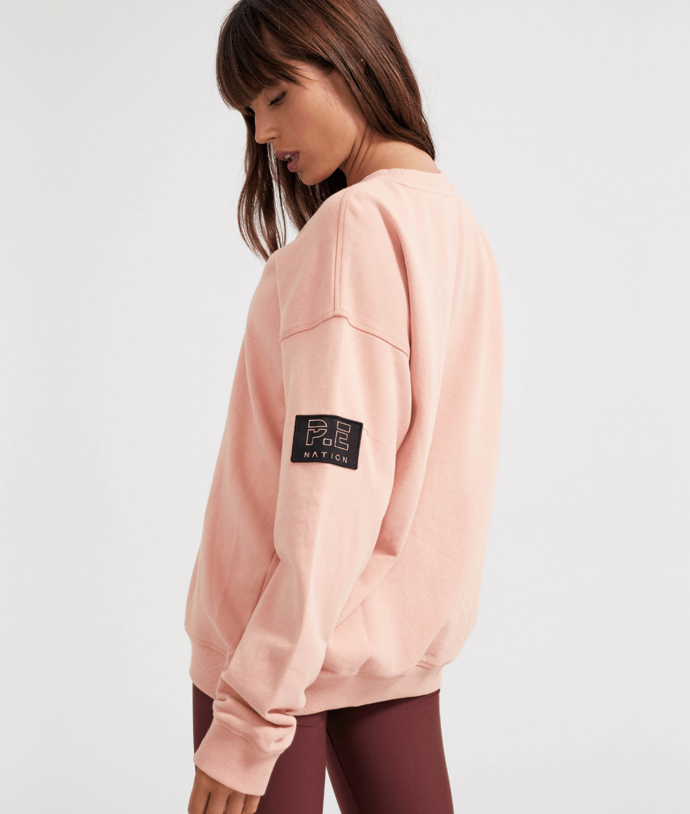 Heads Up Sweat in Coral Pink