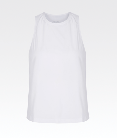 Silky Muscle Tank White