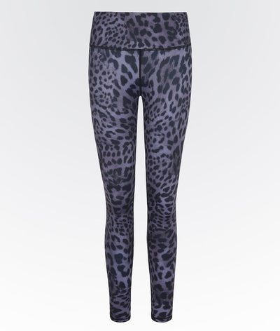purple topaz leopard print high waisted high performance gym legging