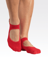 Skye Grip Strap Grip Socks in Red