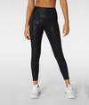 L'URV high rise shiny black gym legging from My Gym Wardrobe. Available in sizes XS-XL
