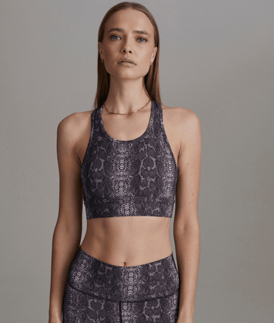 Berkeley Sports Bra in Blush Boa Snake