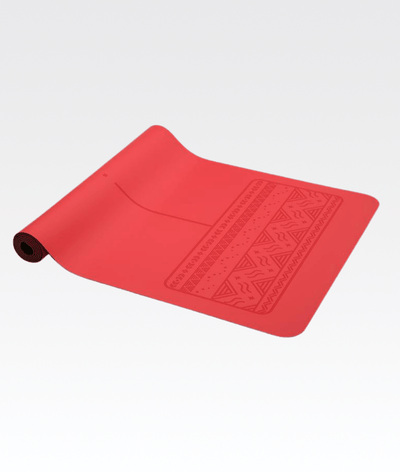 Paws Yoga Mat in Red 4mm