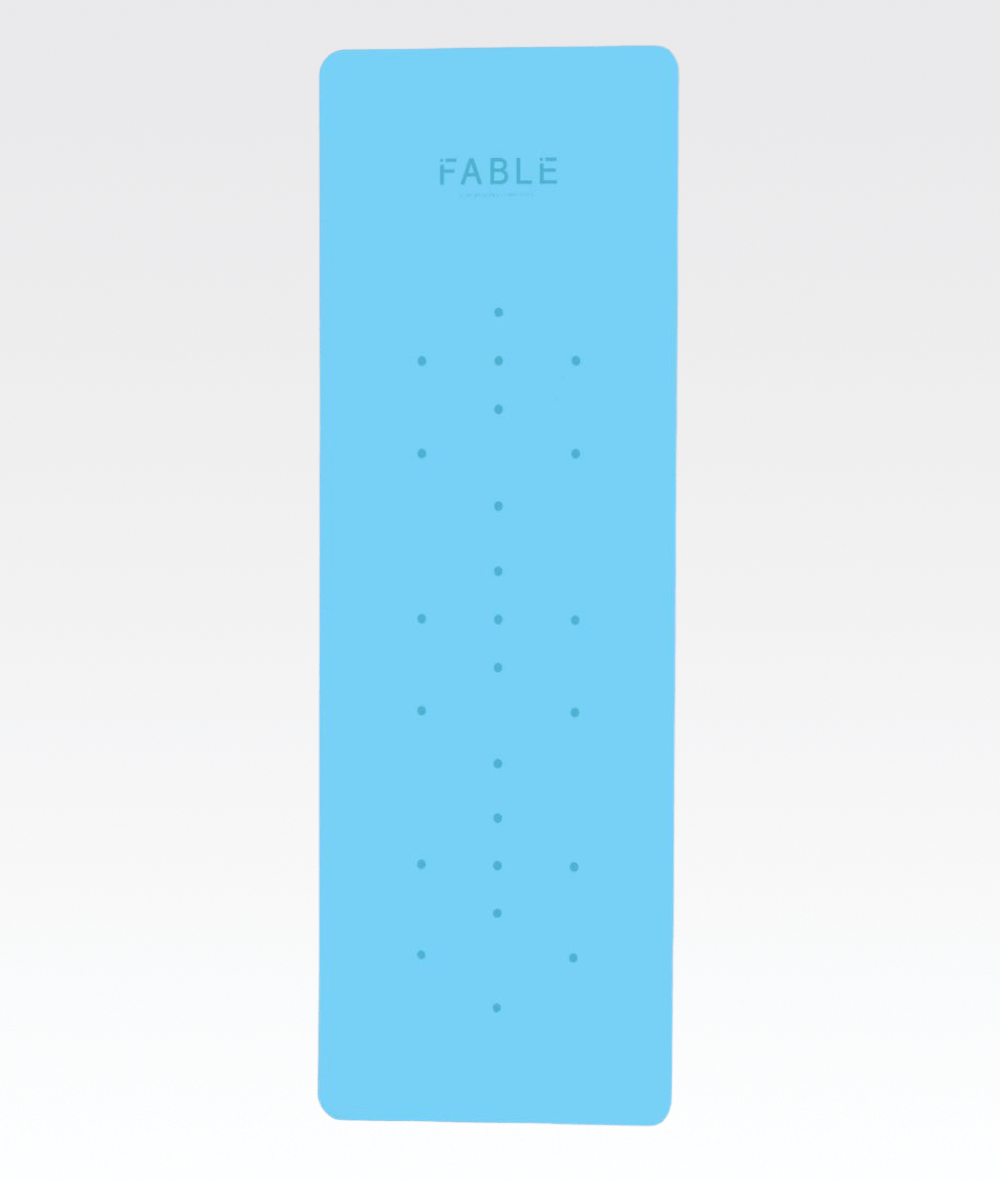 4MM Pro Grip Studio 'Mindful' Yoga Mat in Sky Blue