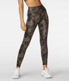 L'URV Survivor legging in shiny camo. High waisted and full length.
