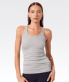 Ashby Rib Tank Heather Grey