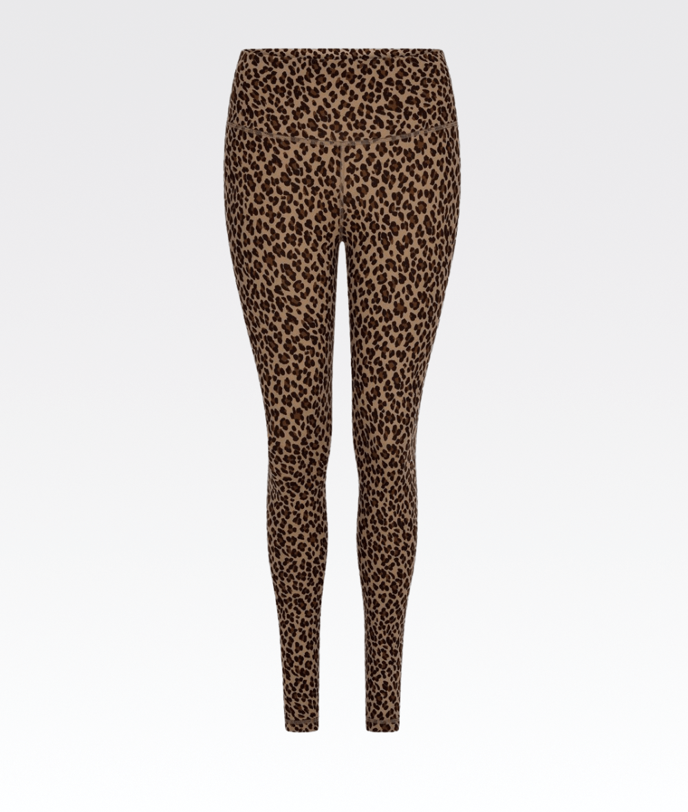 Century Legging in Coffee Cheetah