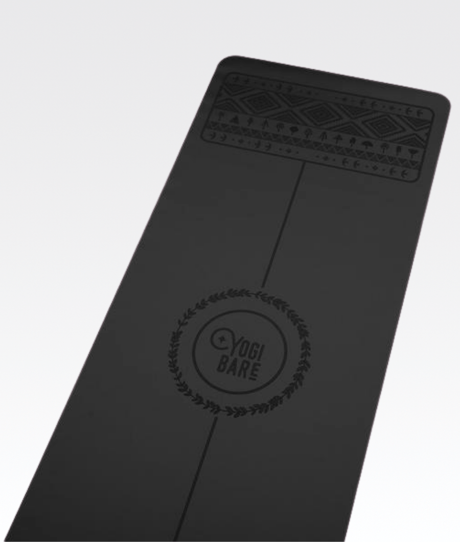 Paws Light Travel Yoga Mat in Black 2mm
