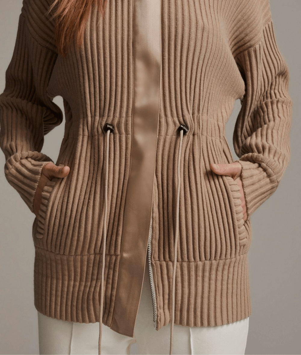 Greenfield Cardigan in Taupe