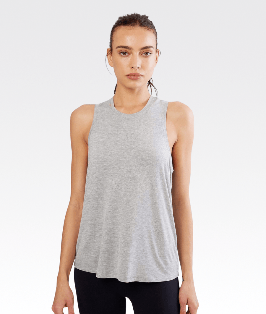 Toni Jersey Tank Heather Grey