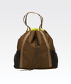 The ANDI Studio Backpack in Olive Pop Yellow