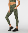 L'URV Take Change gym legging in Khaki green cam. Available in sizes XS-XL from My Gym Wardrobe.