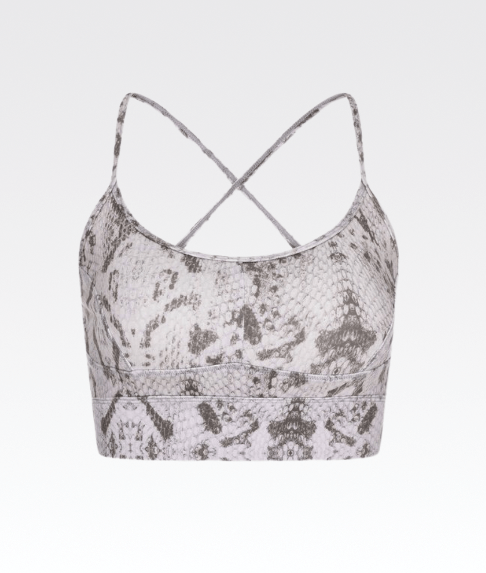 Irena Bra in Taupe Grey Snake