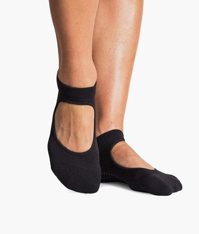 Josie Grip Sock with Strap in Black