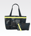 The ANDI Bag in Ink Camo & Pop Yellow
