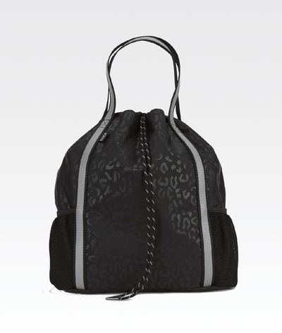 The ANDI Studio Backpack in Black Leopard