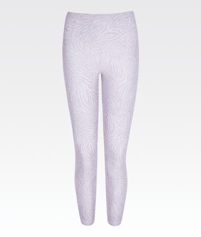 7/8 high waisted high performance legging in lilac zebra print