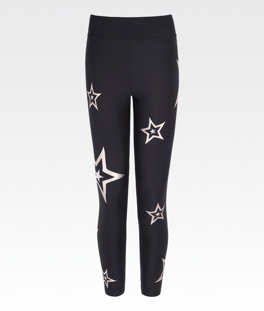 7561126141df7c black high waisted gym activewear leggings with rose gold stars ultracor