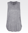 high neck low arm hole soft grey marle gym activewear vest top