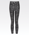 high waisted womens metallic camo gym leggings