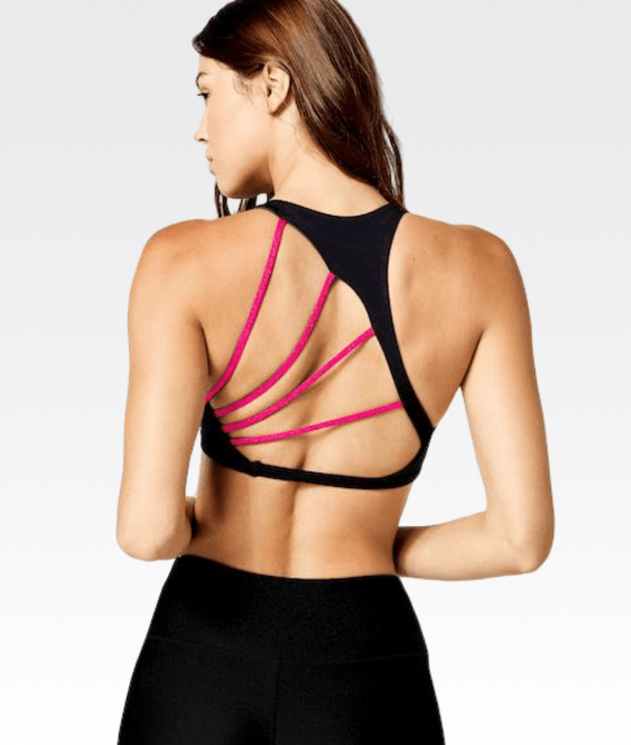 Reversible Margo Sports Bra (Blue & Black)