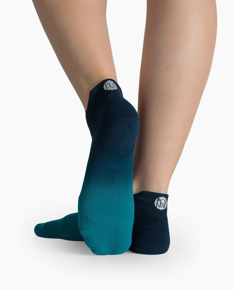 Riley Sport Sock in Teal Ombre