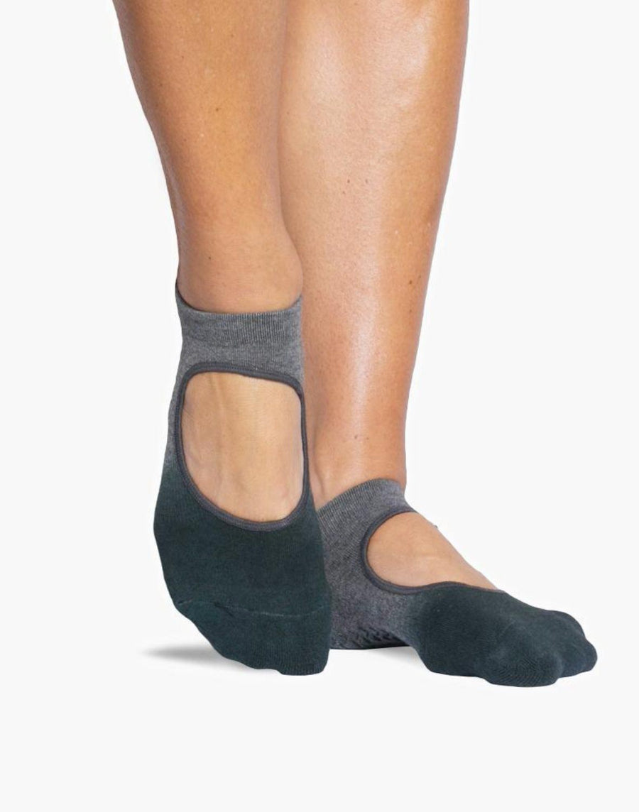 light grey ankle strap pvc grip ankle sock with ombre pattern
