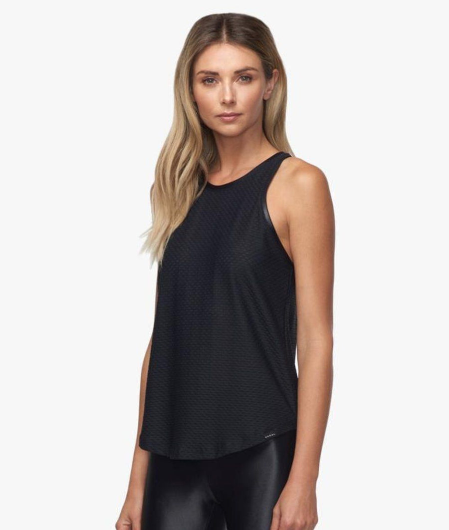 black mesh gym tank top by koral