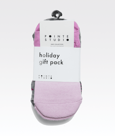 Grip Sock Gift Pack in Pink (3 Pairs)