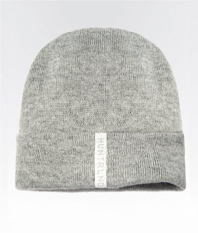 knitted grey marle beanie hat activewear