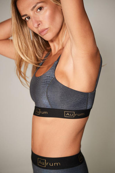 Confidence Sports Bra in Black Croc