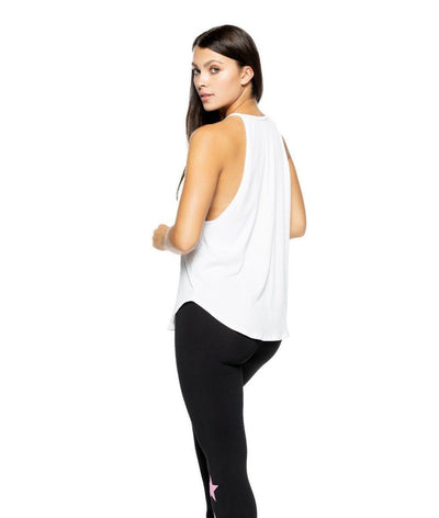Elle Tank in White Rib