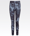 high waisted high performance blue and grey camo 7/8 legging