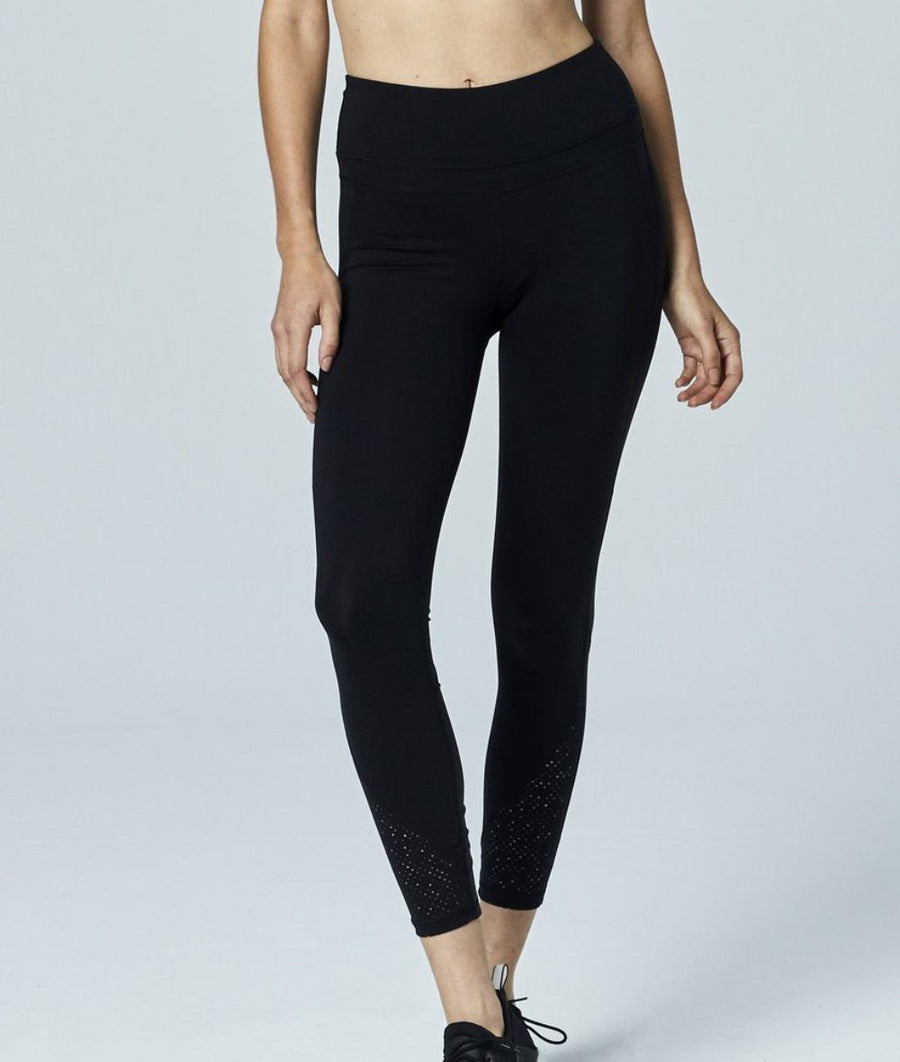 black high waisted high performance activewear gym leggings by varley