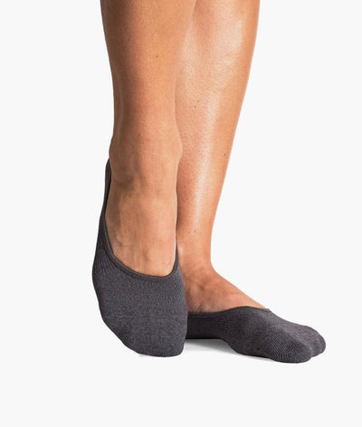 Anna No Show Sock in White & Charcoal (2 Pairs)
