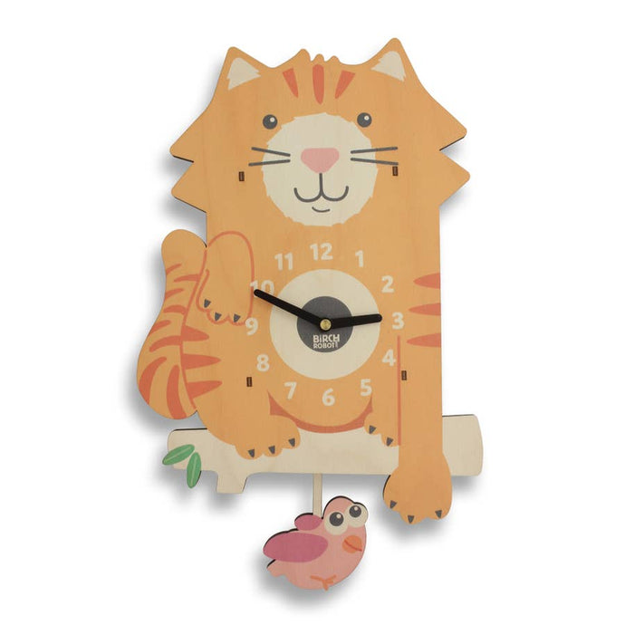 Tabby the Cat Clock