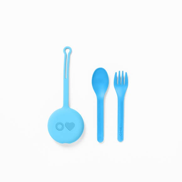 Omielife Fork, Spoon + Pod Set (6 colors)